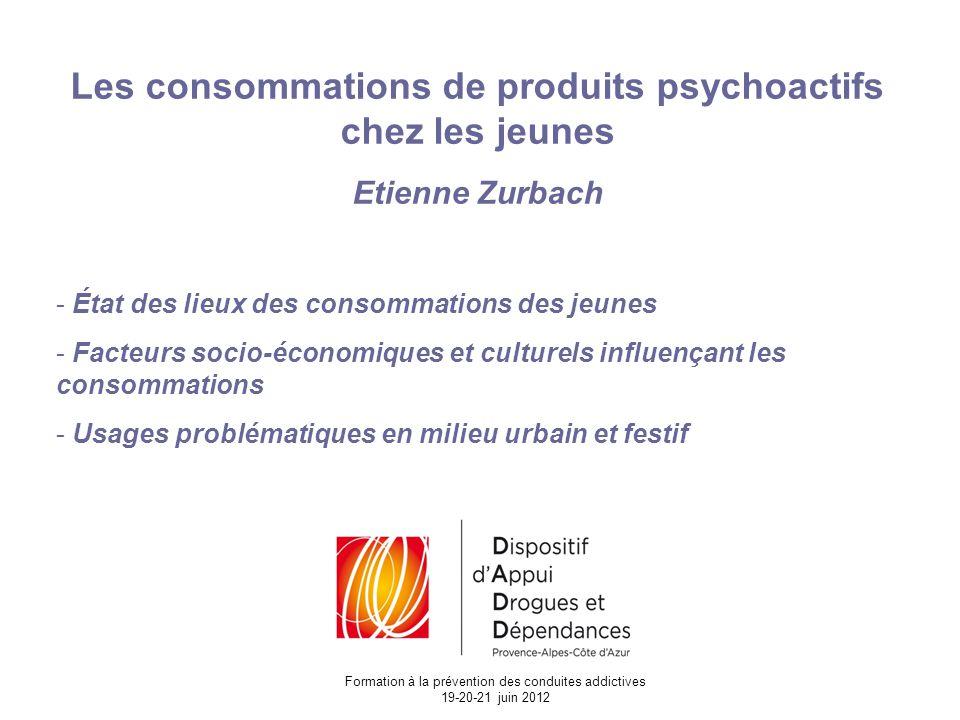 Les consommations de produits psychoactifs chez les jeunes