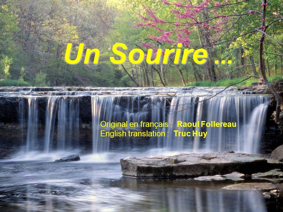 Un Sourire ... Original en français : Raoul Follereau