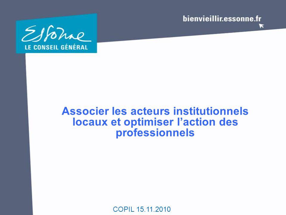 Associer les acteurs institutionnels locaux et optimiser l'action des professionnels