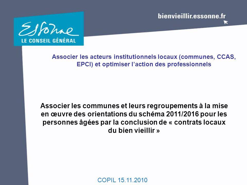 Associer les acteurs institutionnels locaux (communes, CCAS, EPCI) et optimiser l'action des professionnels