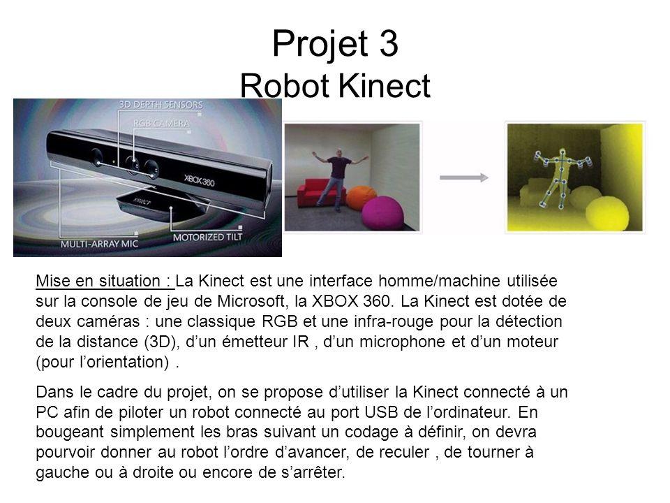 Projet 3 Robot Kinect