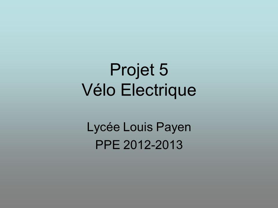 Projet 5 Vélo Electrique
