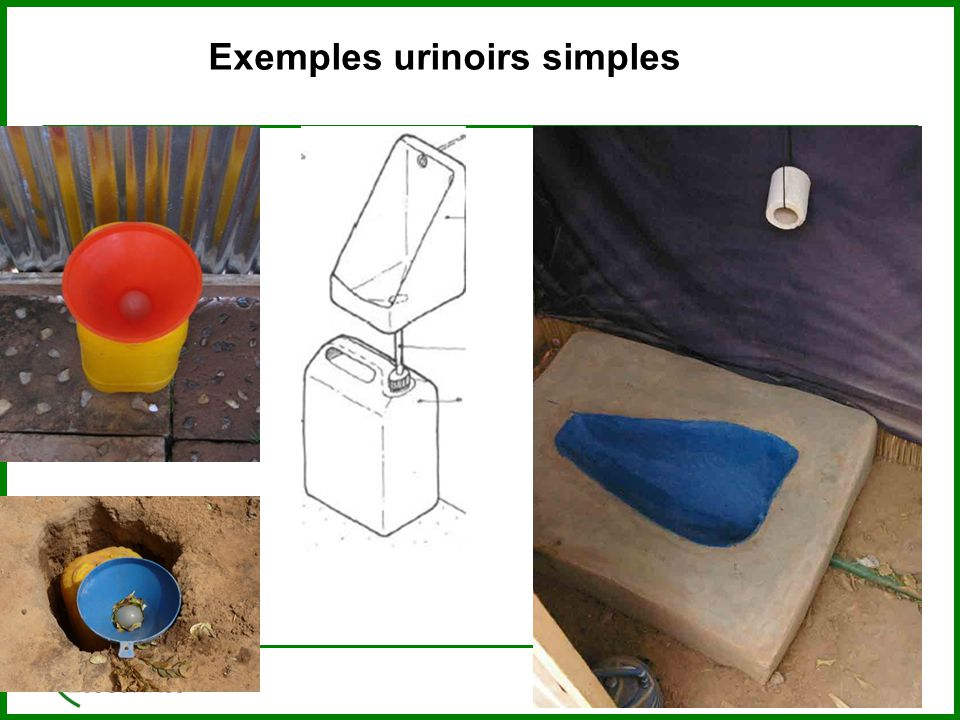 Exemples urinoirs simples
