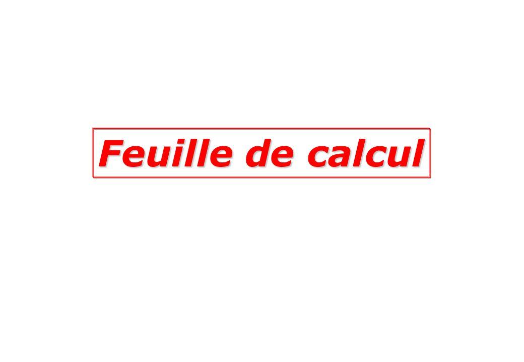 Feuille de calcul