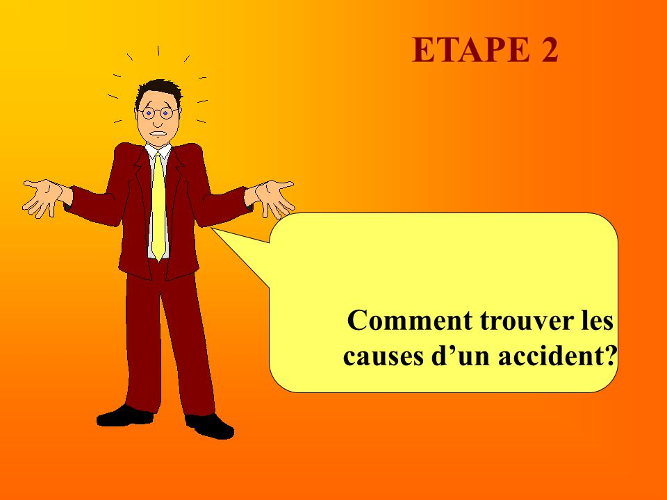 ETAPE 2 Comment trouver les causes d'un accident