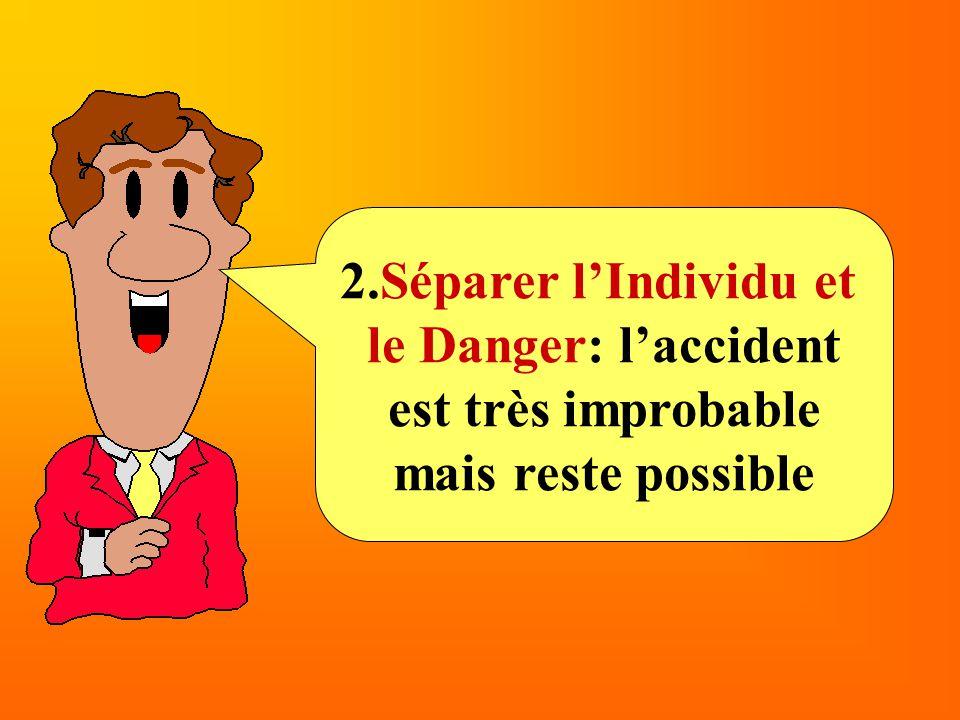 2.Séparer l'Individu et le Danger: l'accident est très improbable