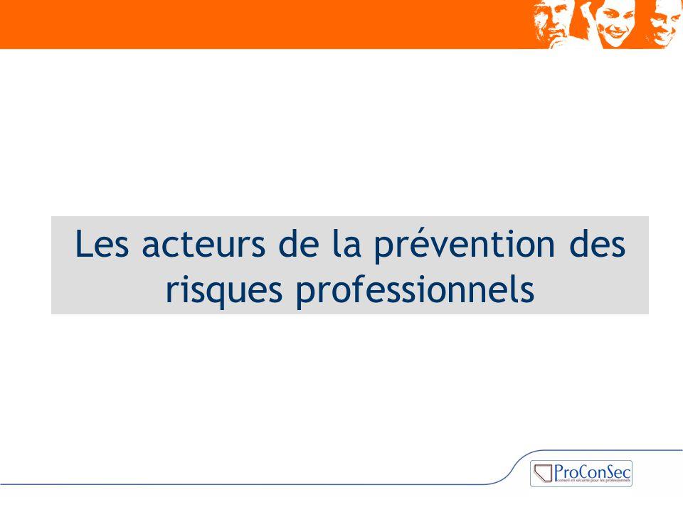 Les acteurs de la prévention des risques professionnels