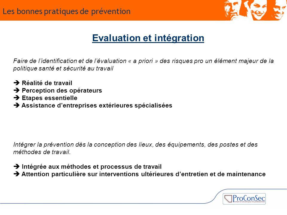 Evaluation et intégration