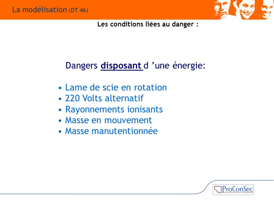 Dangers disposant d 'une énergie: Lame de scie en rotation