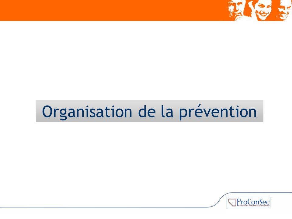 Organisation de la prévention