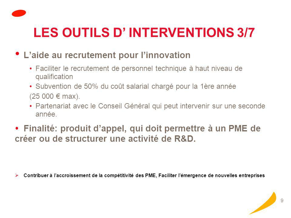 LES OUTILS D' INTERVENTIONS 4/7