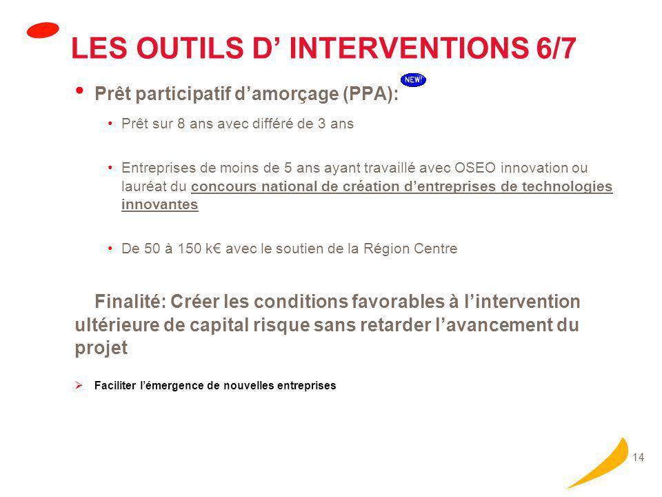 LES OUTILS D' INTERVENTIONS 7/7