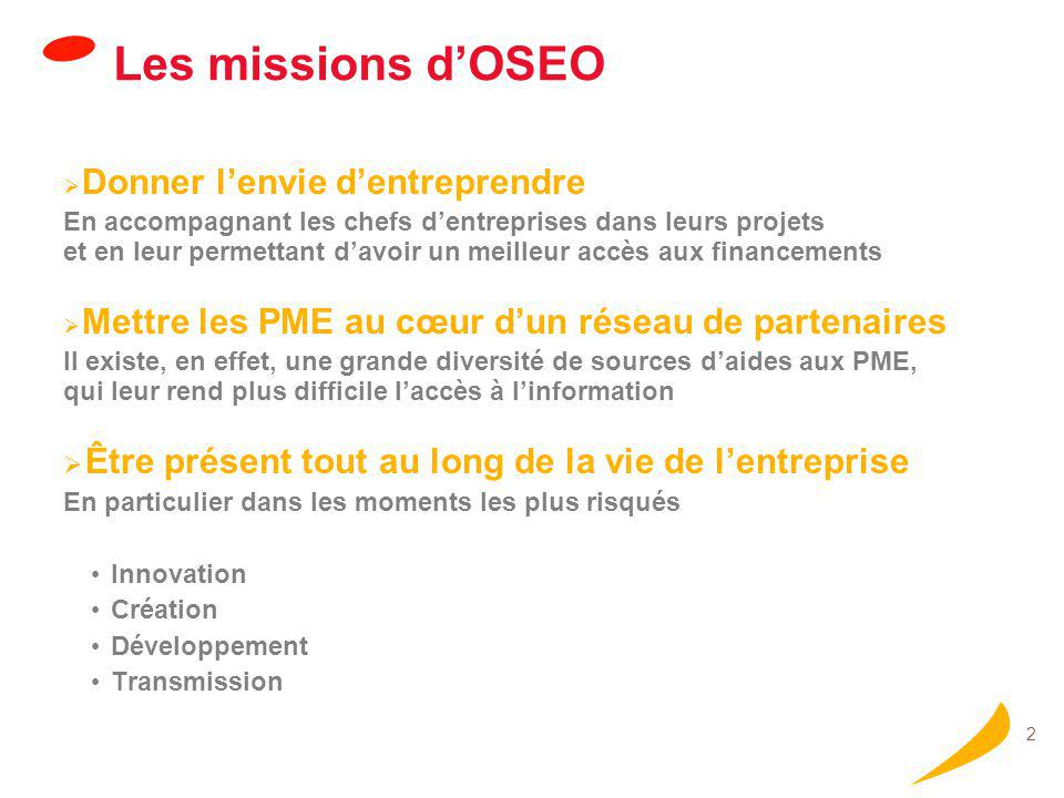 Activité globale du groupe OSEO en 2006