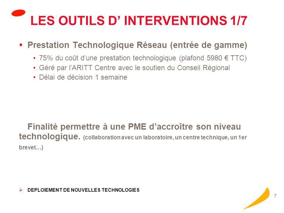 LES OUTILS D' INTERVENTIONS 2/7