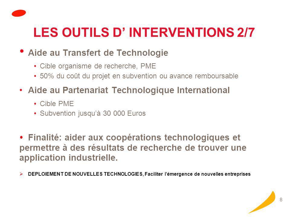 LES OUTILS D' INTERVENTIONS 3/7