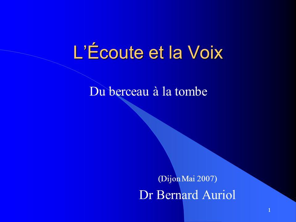 (Dijon Mai 2007) Dr Bernard Auriol