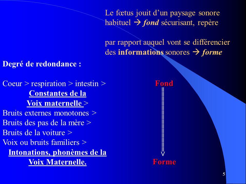 Intonations, phonèmes de la Voix Maternelle.