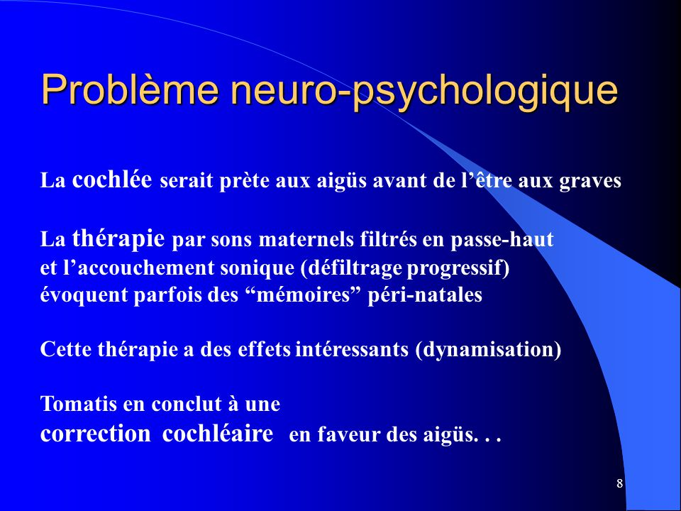 Problème neuro-psychologique