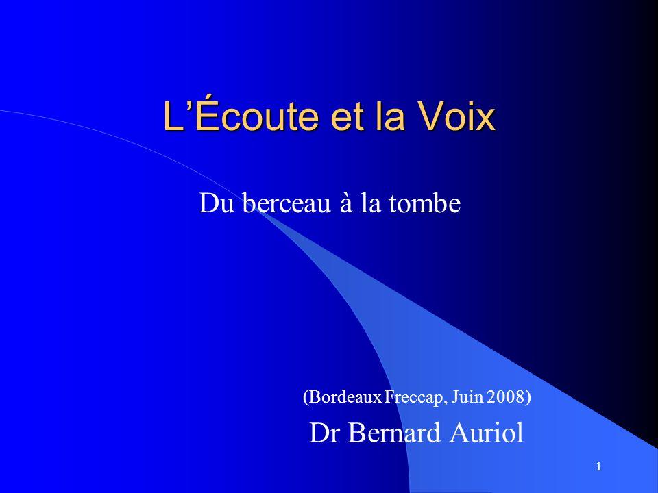 (Bordeaux Freccap, Juin 2008) Dr Bernard Auriol