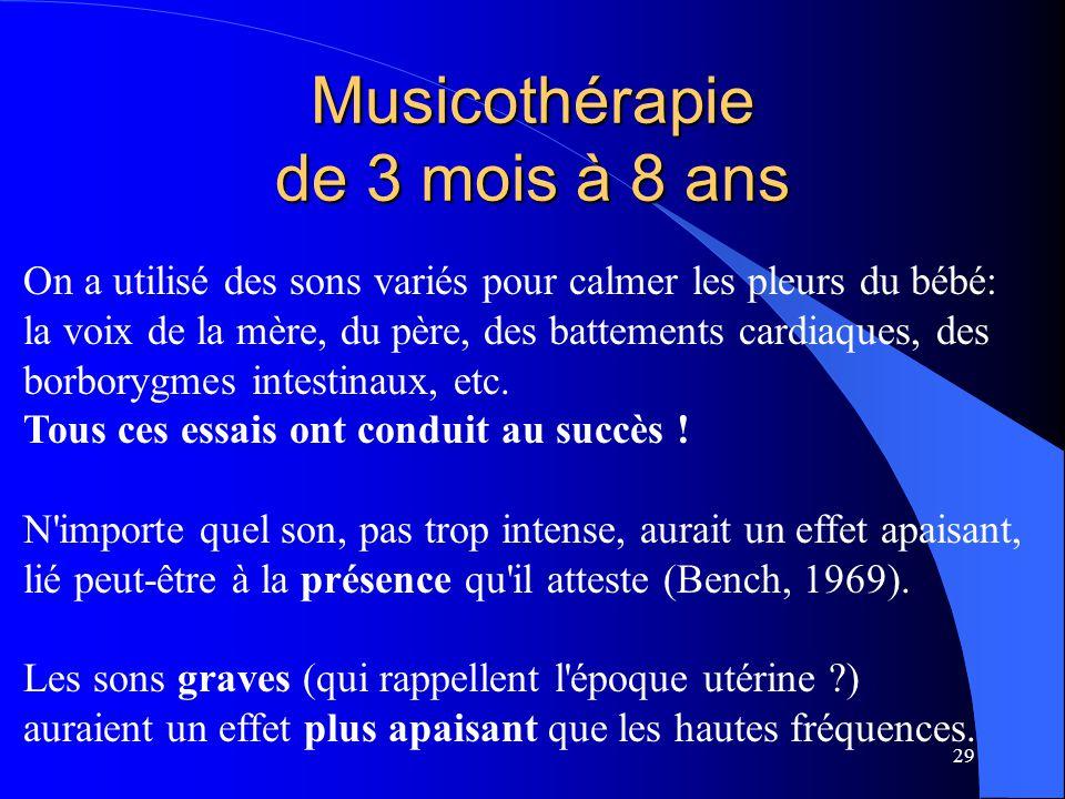 Musicothérapie de 3 mois à 8 ans