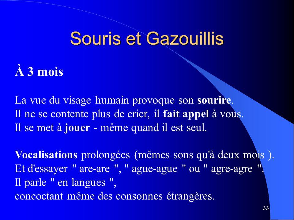 Souris et Gazouillis À 3 mois