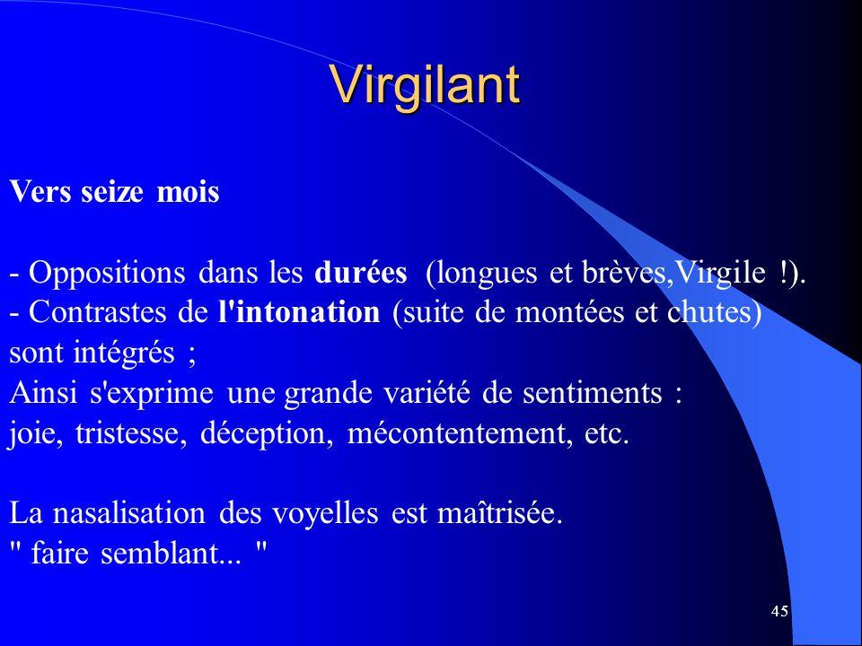 Virgilant Vers seize mois