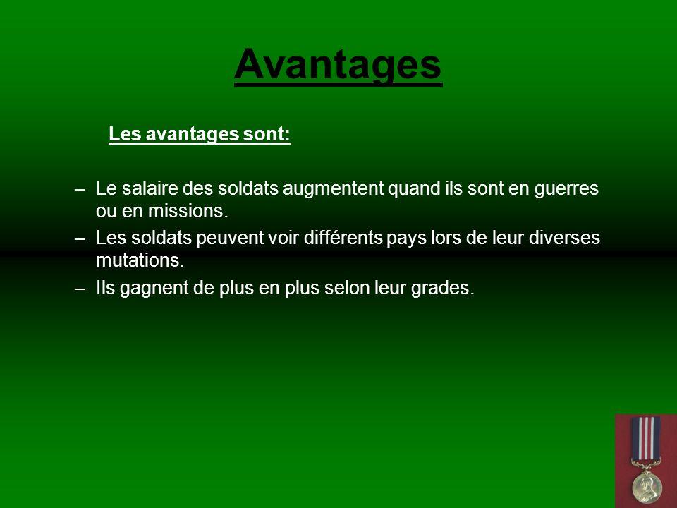 Avantages Les avantages sont: