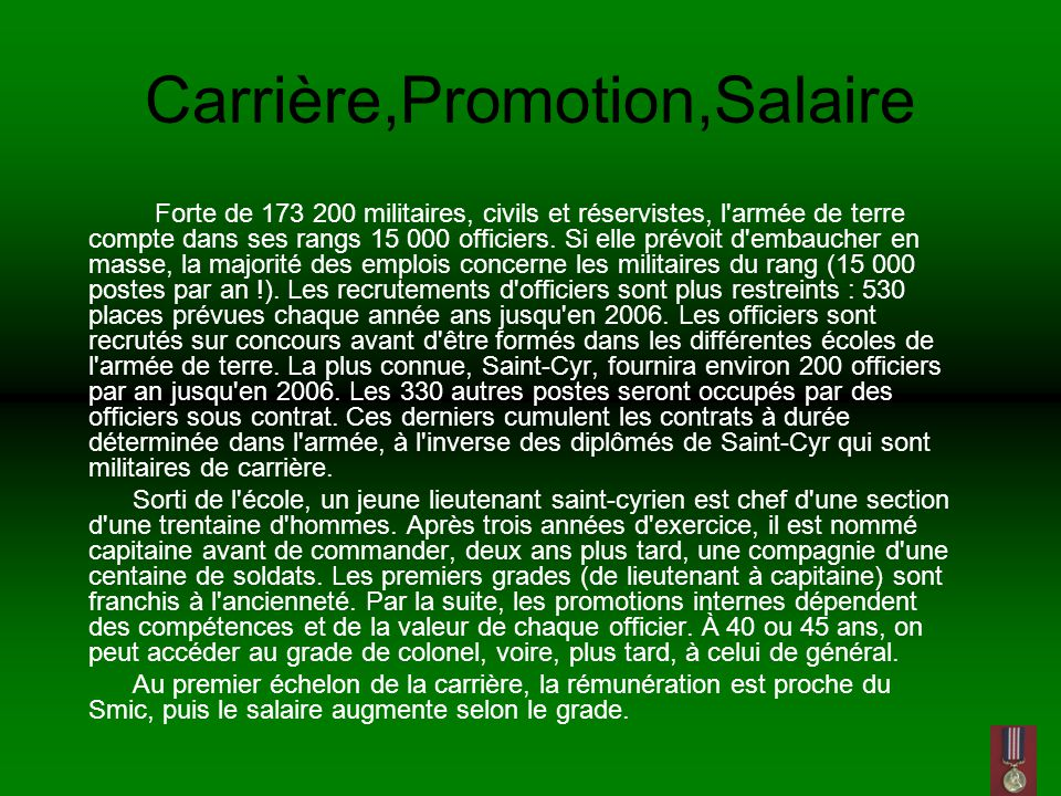 Carrière,Promotion,Salaire