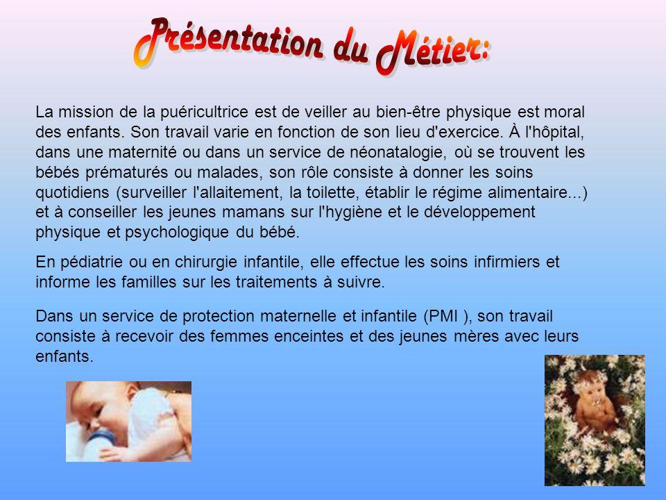 Présentation du Métier: