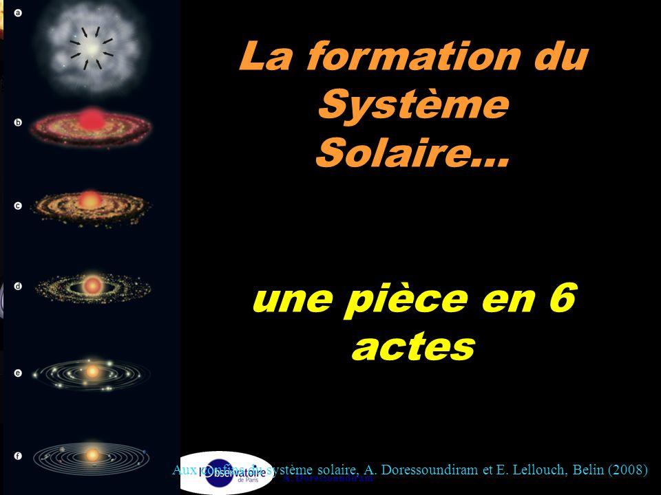 La formation du Système Solaire…