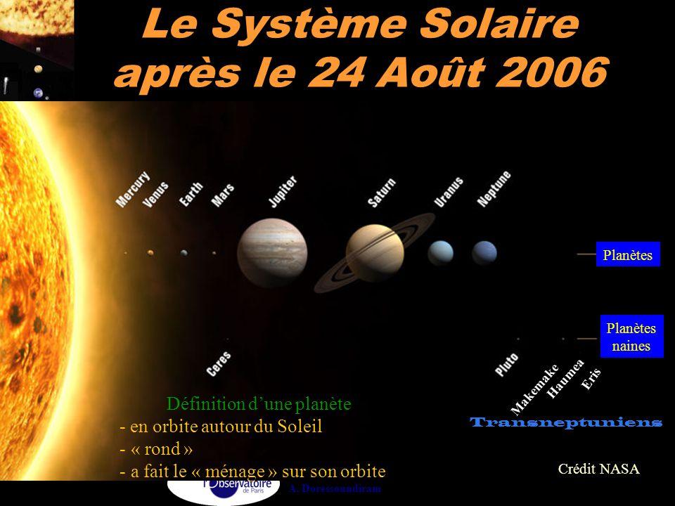 Le Système Solaire après le 24 Août 2006