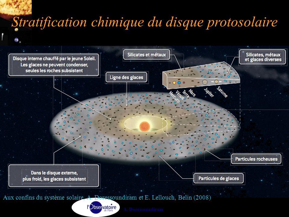 Stratification chimique du disque protosolaire