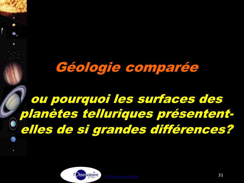 Géologie comparée : pourquoi les surfaces des planètes telluriques présentent-elles de si grandes différences