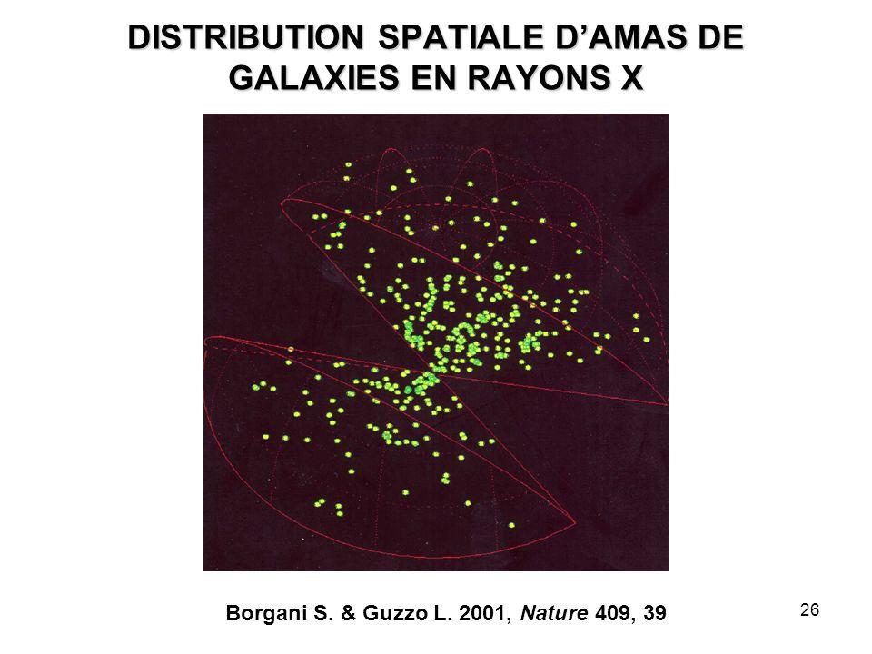 DISTRIBUTION SPATIALE D'AMAS DE GALAXIES EN RAYONS X
