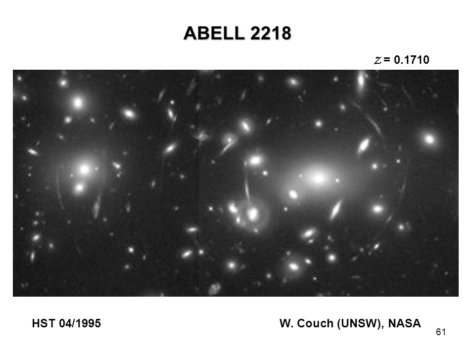 ABELL 2218 Z = 0.1710 HST 04/1995 W. Couch (UNSW), NASA