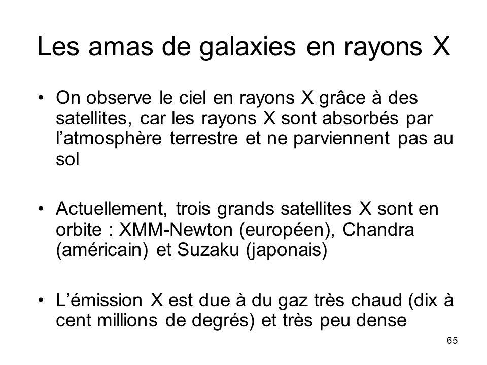 Les amas de galaxies en rayons X