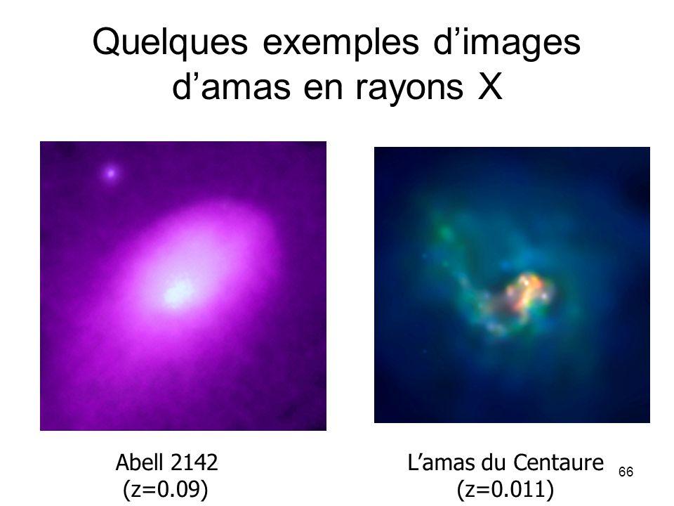 Quelques exemples d'images d'amas en rayons X