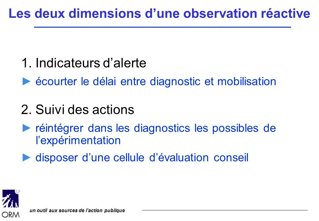 Les deux dimensions d'une observation réactive