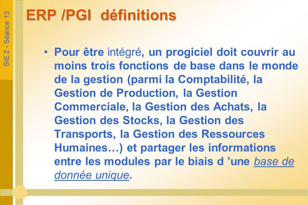 ERP /PGI définitions