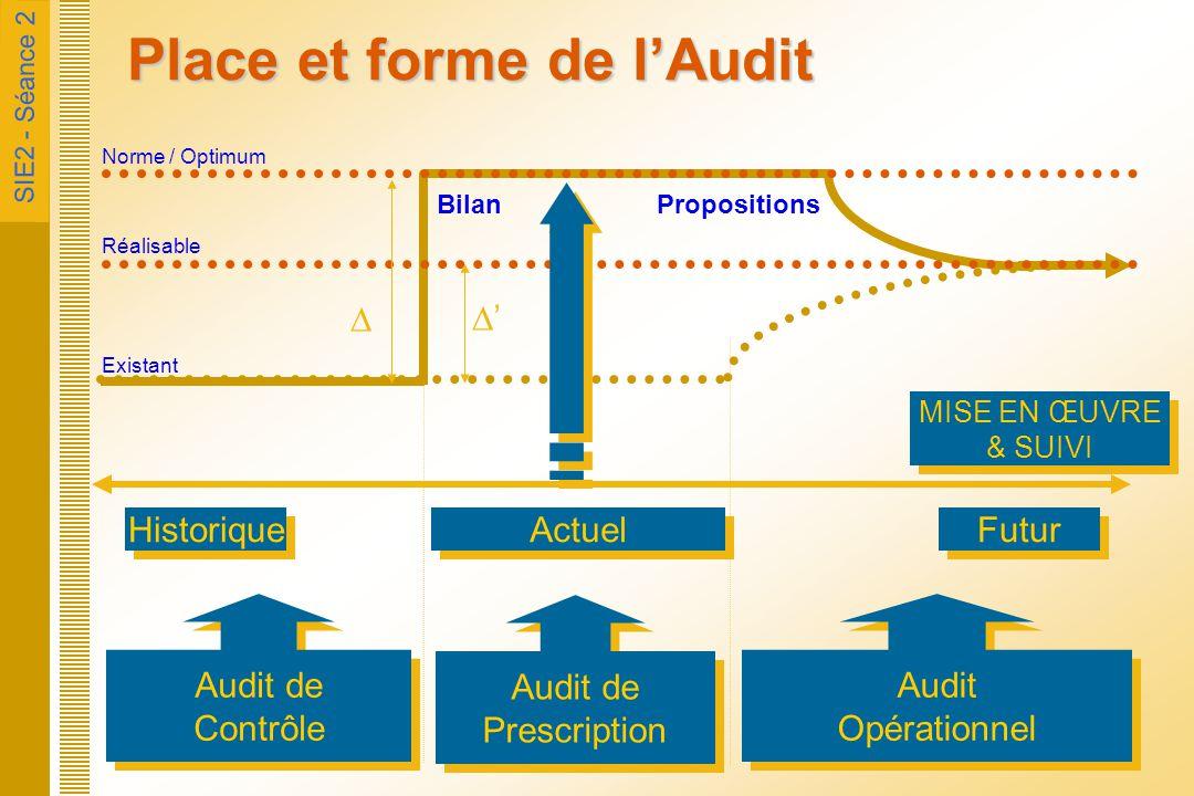 Place et forme de l'Audit
