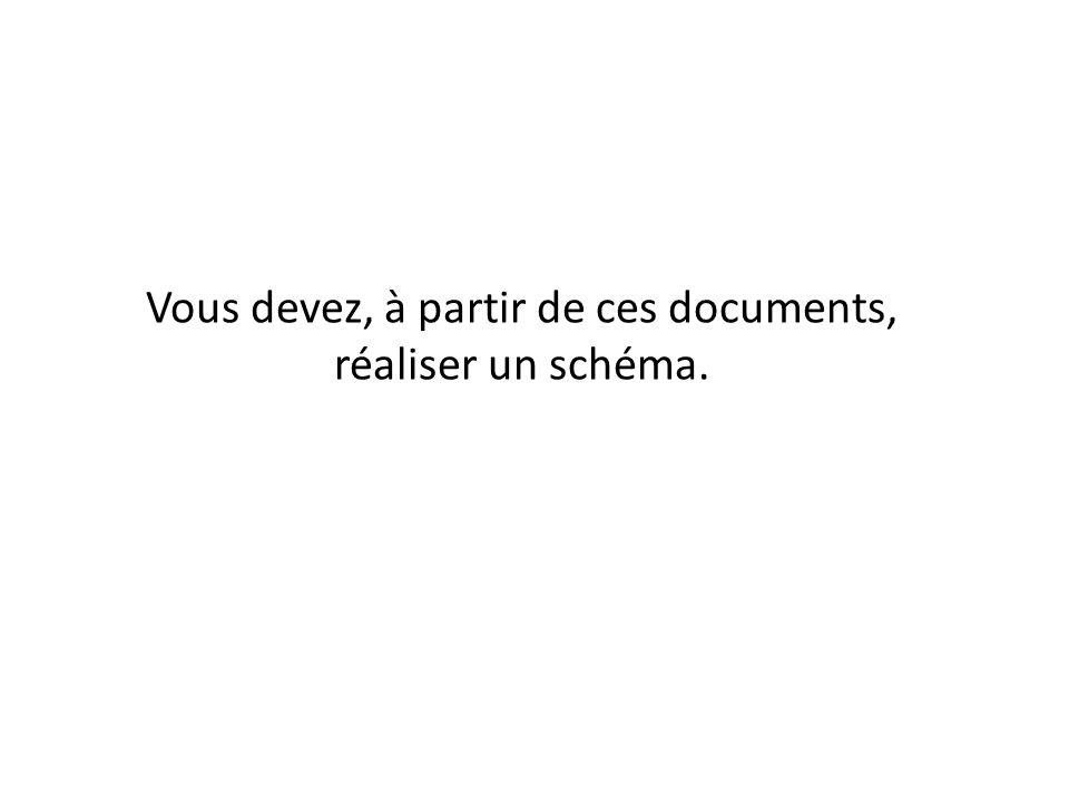 Vous devez, à partir de ces documents, réaliser un schéma.