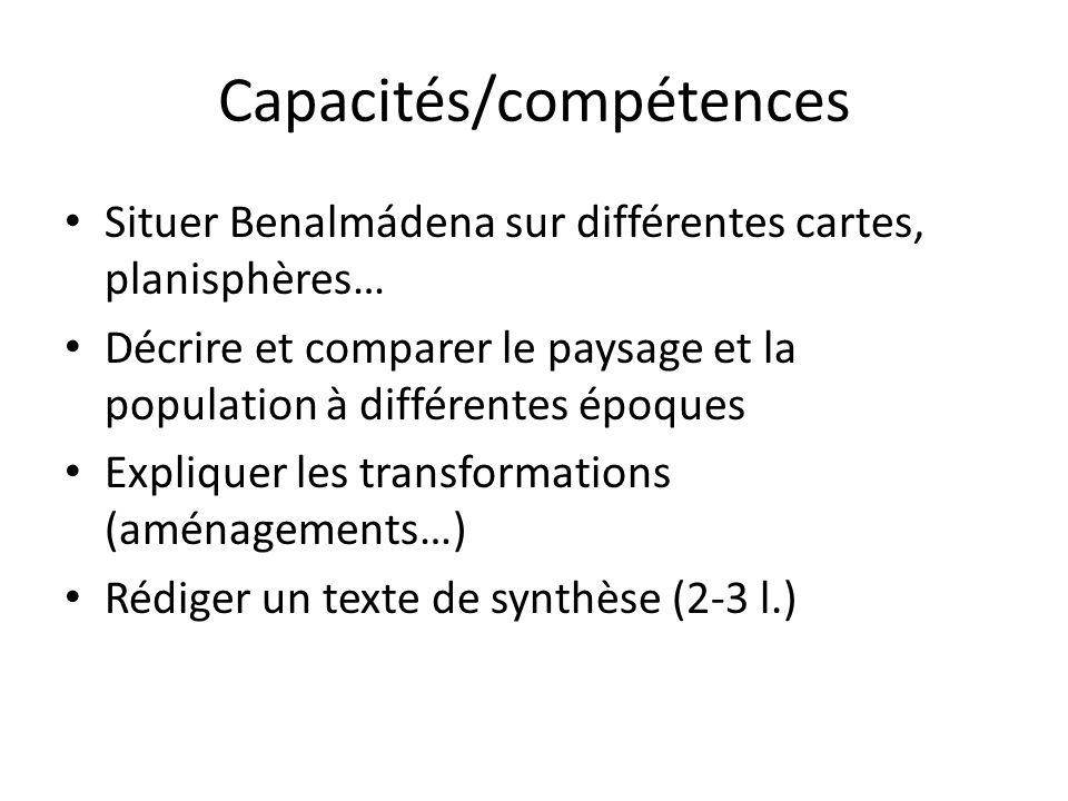 Capacités/compétences