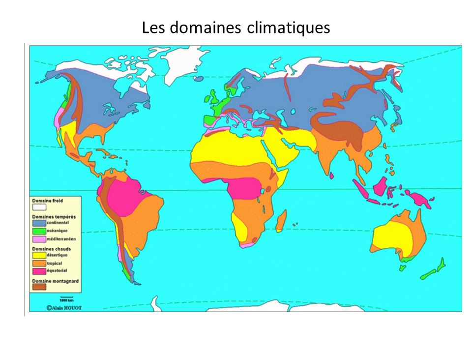 Les domaines climatiques