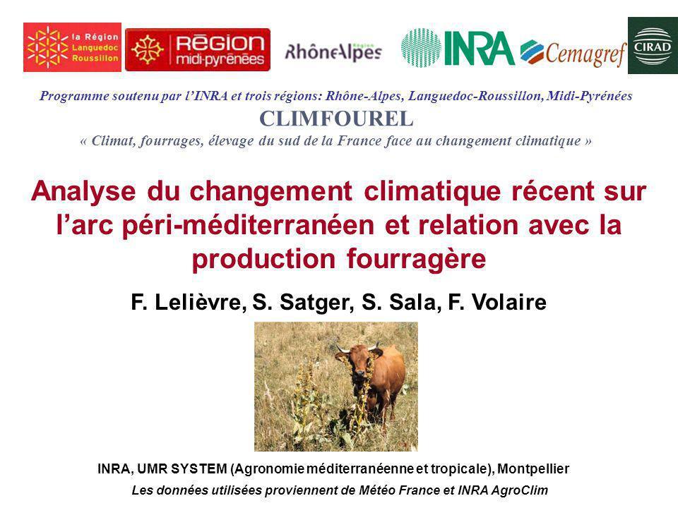 F. Lelièvre, S. Satger, S. Sala, F. Volaire