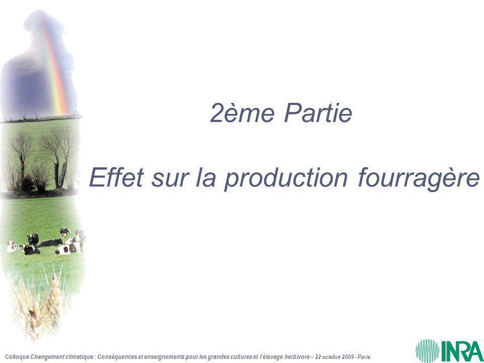 2ème Partie Effet sur la production fourragère