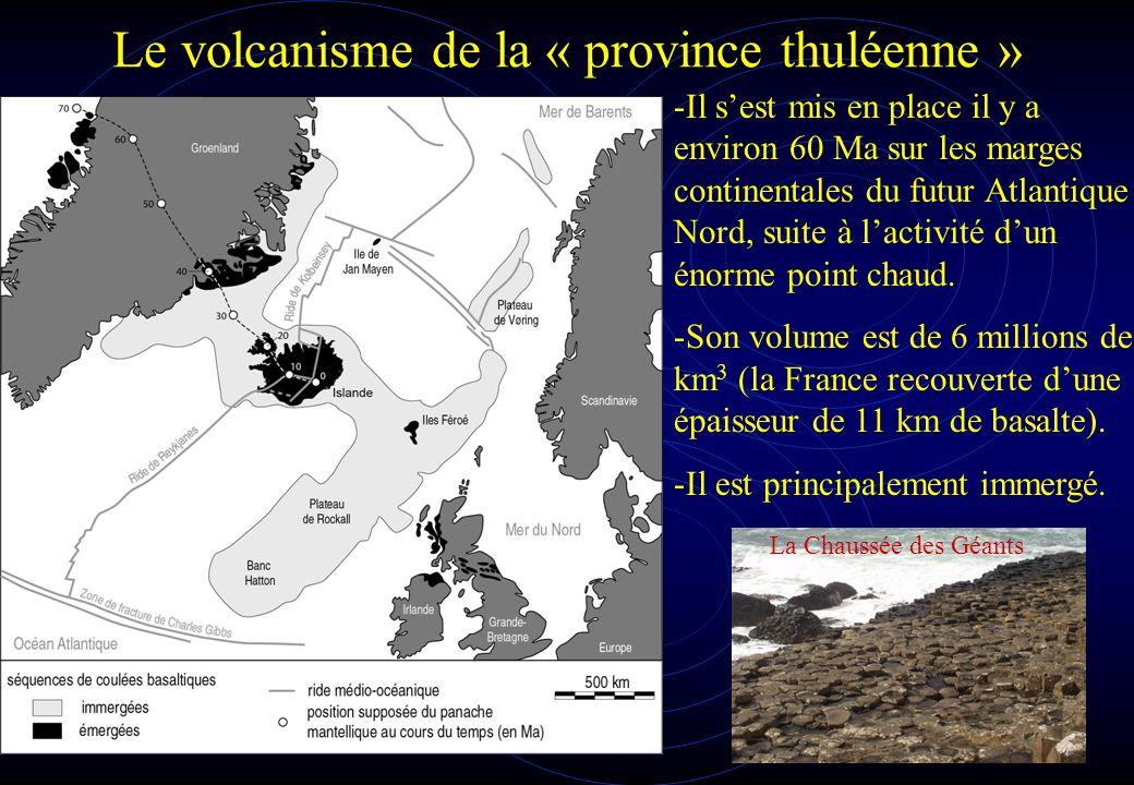 Le volcanisme de la « province thuléenne »