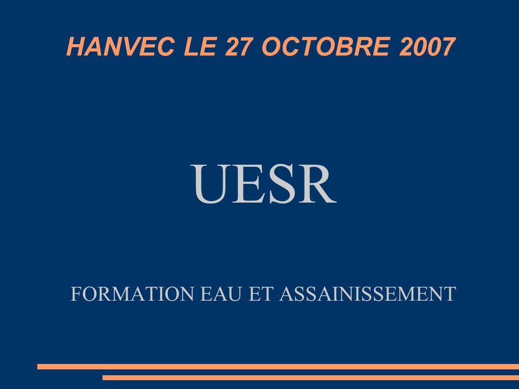 UESR FORMATION EAU ET ASSAINISSEMENT