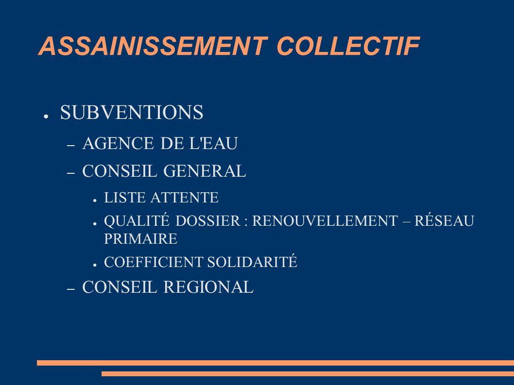 ASSAINISSEMENT COLLECTIF