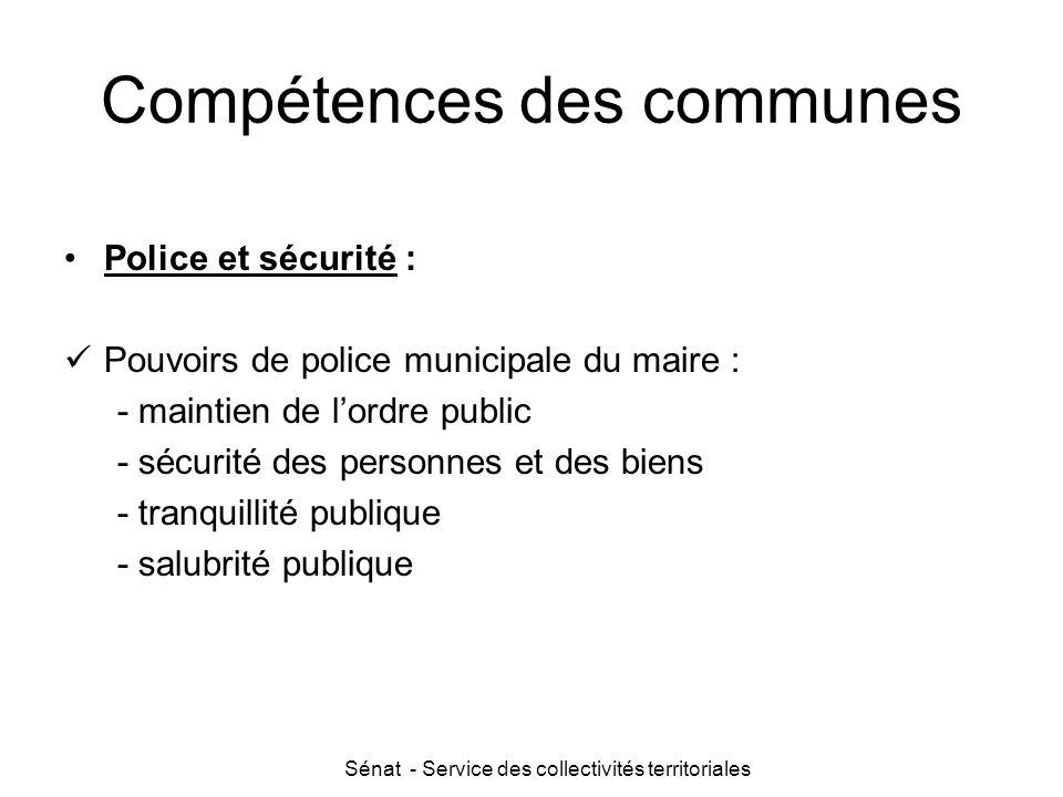 Compétences des communes