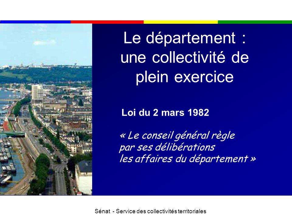 Le département : une collectivité de plein exercice